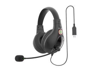 USB Stereo Headset with Headphones and Noise Cancelling Microphone for PCs and Other USB Devices in The Office Classroom or Home (A566H USB)