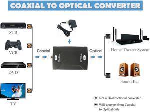 Coax Coaxial RCA to Optical Toslink SPDIF Digital Audio Signal Converter Adapter 600mA 9V Coaxial to Optical Audio Converter