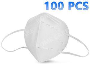 100 Pcs KN95 Mask Reusable, Anti-pm2.5 Antivirus 5-Layer Mask Face Mask Anti-fog Haze Dustproof Non-Woven Fabrics Mask
