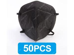 Non Disposable Face Mask, Black Protective Mask, 50 Pcs per Pack