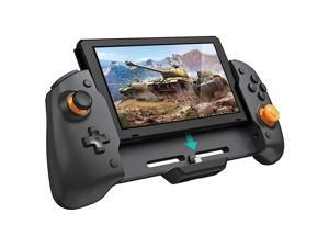 ROME CARE Wireless Controller for Nintendo Switch, Ergonomic Controller for Nintendo Switch with Gravity Induction of Six-Axis Gyroscope, Double Motor Vibration and Screen Capture Button/Black