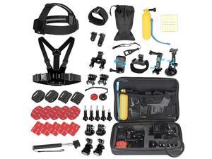 ROME CARE 52 in 1 Action Camera Accessories Kit for GoPro Hero 9 8 7 6 5 4 3+ 3 2 Accessory Bundle Set Compatible with AKASO, SJCAM, Campark, DJI OSMO, APEMAN Action Camera(Black)