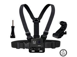 ROME CARE Chest Mount Harness Chesty Strap Compatible for GoPro Hero 9 Black, 8 Black, Hero 7 Black, 7 Silver, 7 White, Hero 6, 5, 4, Session, 3+, 3, 2, 1, Hero (2018), Fusion, DJI Osmo Action Cameras
