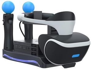 ROME CARE PSVR Stand - Charge, Showcase, and Display Your PS4 VR Headset and Processor - Compatible with Playstation 4 PSVR - Showcase and Move Controller Charging Station