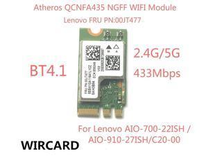 Wireless Adapter Card  QCA9377 QCNFA435 802.11AC 2.4G/5G NGFF WIFI CARD Bluetooth 4.1 For Lenowo AIO-700-22ISH C20-00