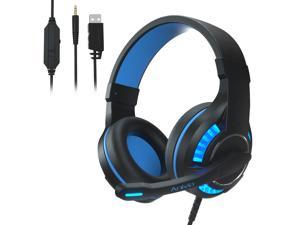 PS4 Gaming Headset,PC Gaming Headset, All-Platform Stereo Headphones Gaming Headset with Mic Compatible with PC Computers Xbox One Controller, Android, iOS Laptop, Smartphone, Tablet