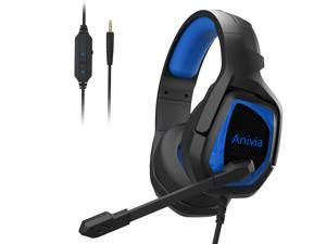 PC Gaming Headset with Mic, PS4 Gaming Headset,Stereo Gaming Headphone for PS4, Xbox One, Nintendo Switch, PC, Mac, Laptop, Android,Smartphone, Tablet(MH602/BLUE)