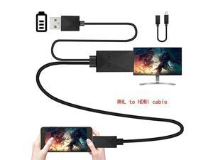 MHL Micro USB to HDMI adapter, 5-pin and 11-pin 1080P HD TV cable adapter, suitable for Samsung Huawei Xiaomi HTC Android phone TV PC laptop
