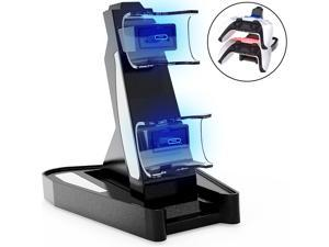 PS5 Controller Charger, Dual USB Type C Fast Charging Docking Station Stand with LED Indicator Lights for Sony Playstation 5 Dualsense Controller