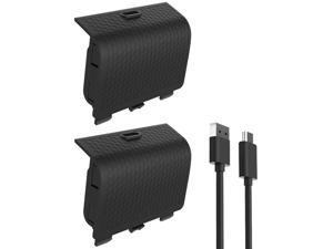 Xbox Series Controller Battery Pack, 2 Pack 800mAh Rechargeable Battery Power Bank Kit with USB C Charging Cable & LED Charge Indicator for Xbox Series X/ S Controller (Black)
