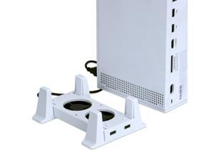 Xbox Series S Cooling Stand , Vertical Stand Base with 2 Cooling Fan & 2 Non-Slip Holder & 1 USB Data Transmission Port & LED Indicator for Xbox Series S Game Console - White