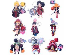 Cartoon One Piece Chopper Pendant Keyring with Light Sound Anime Gift Toy