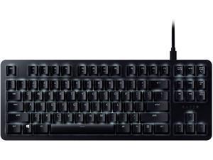 BlackWidow Lite TKL Tenkeyless Mechanical Keyboard : Orange Key Switches - Tactile & Silent - White Individual Key Lighting - Compact Design - Detachable Cable - Classic Black