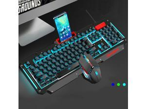 Cool Multicolor Hand Feeling Gaming Keyboard + Mouse Suit