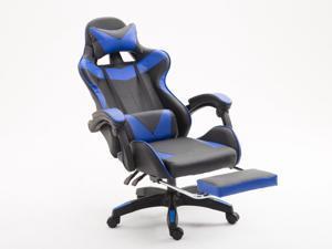 WEIWEN Gaming Chair, Racing Office Computer Game Chair, Height Adjustment Recliner Swivel Rocker with Headrest and Lumbar Pillow E-Sports Chair