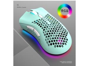 X3 E-sport Wireless Mouse RGB Dual Mode Gaming Mechanical Macro Computer Notebook Mouse Ultralight Honeycomb Shell Mouse