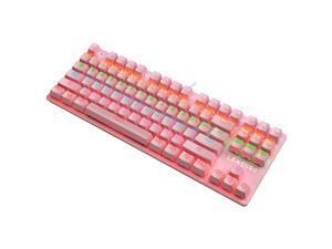 LEAVEN K550 Punk Mechanical Keyboard 87-key Green Axis Game Competitive Office Keyboard