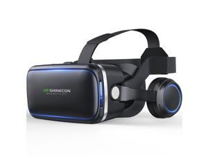 VR Headset Compatible With iPhone & Android Phone - Universal Virtual Reality Goggles - Play Your Best Mobile Games With Soft & Comfortable New 3D VR Glasses