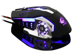 Free Wolf V5 Mechanical Mouse Wired Gaming Silent Mouse With Breathing Light