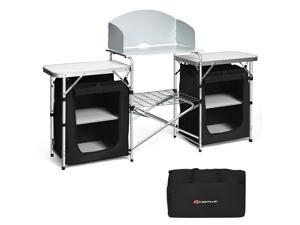 Folding Camping Table w/ Storage Organizer