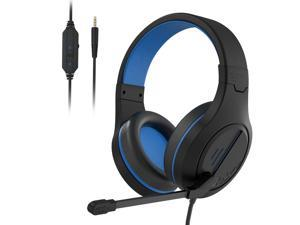 PC Gaming Headset, Noise Reduction lsolation Stereo headphone With Microphone Volume Control for Nintendo Switch / Xbox One / PS4 / PC / Laptop / Smartphone / Tablet (Blue)