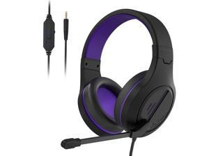 PS4 Gaming Headset, Noise Reduction lsolation Stereo Headphone With Microphone Volume Control for Nintendo Switch / Xbox One / PS4 / PC / Laptop / Smartphone / Tablet (Purple)