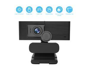 1080P Webcam HD With Privacy Cover - Pro Web Camera With Stereo Microphone And Manual Focus 1080P Webcam For PC Laptop Desktop Mac Video Calling, Conferencing Skype YouTube