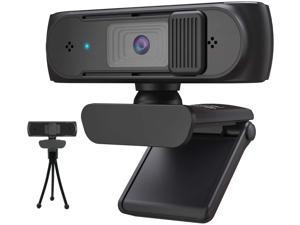 Autofocus 1080P Webcam with Privacy Cover and Tripod, 5M FHD Camera with Mic for PC