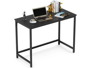Small Computer Desk Study Writing Desk for Home Office PC Notebook Table Workstation Stand 39 Inches Metal Leg Black
