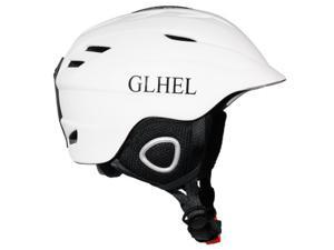 All-in-one professional ski helmet, ultra light, adjustable, thicker, warm and comfortable ski helmet, white, head size 54-58cm