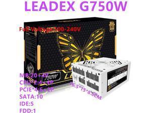 New PSU For Super Flower Brand Full Modular RTX2080 Game Mute Power Supply Rated 750W Peak 850W Power Supply LEADEX G 750W