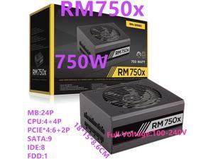 New PSU For Corsair Brand ATX Full Module 80plus Gold Silent Power Supply 750W Power Supply RM750x