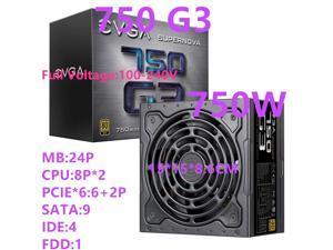 New PSU For EVGA Brand 80PLUS Gold Full Modular Silent Fan Power Supply Rated 750W Peak 850W Power Supply 750 G3