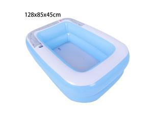 Inflatable Paddling Pools Family Kids Swimming Pool Outdoor Garden Summer Holiday 128x85x45cm