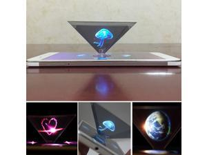 3D Pyramid Video Display Projector Hologram Miniature Universal For Smart Phone