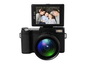 "Full HD 1080P Digital Camera Wide Angle Lens Flip Screen Flash Light 24MP 3.0"" TFT LCD Display"