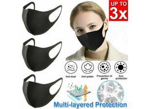 3PCS Outdoor Windproof Anti Dust Daily Earloop Cycling Washable Face Mask Fashion Mouth Cover