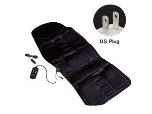 US Heated Back Chair Cushion Car Seat Home Pad Pain Lumbar Neck Shoulder Massager