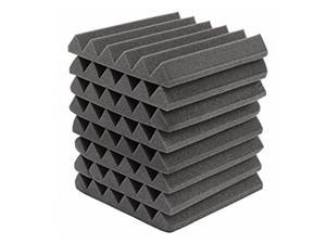 """8 PACK 12""""X12""""X2"""" Acoustic Foam Panel Wedge Studio Soundproofing Wall Tiles"""