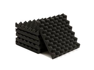 """6 Pack Acoustic Foam Panel Wedge Studio Soundproofing Wall Tiles 12"""" X 12"""" X 1.7"""""""