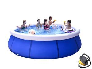 Outdoor Inflatable Swimming Pool Home Inflatable Bathtub Children's Inflatable Swimming Pool Summer Water Party with Inflatable Children's Swimming Pool Outdoor Garden Backyard Family Swimming Pool to
