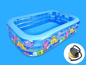 Outdoor Large Inflatable Swimming Paddling pool Garden Family pool Children's Paddling pool Suitable for 5-7 People Send foot Pump