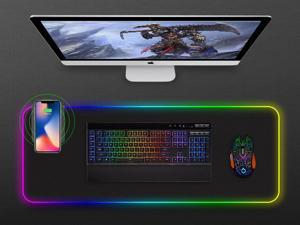 Game Mouse Pad RGB Light Mouse Pad Phantom Color Hard Belt Phone Wireless Charging Function Mouse Pad Belt Glow