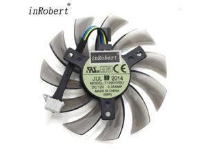 Everflow T128010SU 75MM 4Pin 12V 0.35A Cooling Fans Graphics Video Card Gigabyte GeForce GTX 670 680 570 580 Ti Cooler Fan