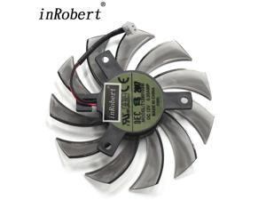 75mm Everflow T128010SM 2Pin 2 Wire DC 12V 0.20A Cooler Fan Replace Gigabyte Radeon R9 270X 280X Graphics Video Card Fans