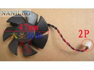 NANILUO Diameter 47mm DF0501012SEE2C 0.05A 2pin Computer Vedio Card VGA Cooler Fan For sapphire HD6450 Graphics card cooling