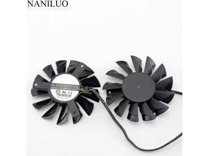 2pcs/lot 74MM PLD08010S12HH cooler Fan For MSI Twin Frozr III R6790 570GTX R6850 N460GTX R7950  R7850  HD 7870 7950 7870 6870Fan