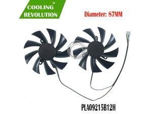 87MM PLA09215B12H DC12V 0.55A 4PIN graphics fan for DATALAND Radeon RX 580 590 Red Devil Golden Sample Graphics Card Cooling Fan