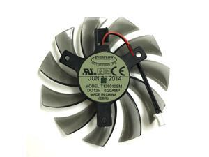 T128010SM 2 lines 2 pin computer radiator Graphics Cooler Fan For Gigabyte Radeon 270X R9 280X viedeo card cooling