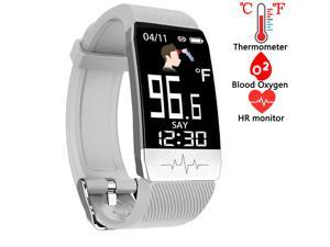 Fitness Tracker,Smart Watch with Body Thermometer Heart Rate Blood Oxygen Blood Pressure Monitor,Pedometer Sleep Monitor, Step Counter for Kids Women Men